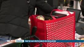 RTL INFO 19H : Les sacs réutilisables ne sont pas assez souvent réutilisés