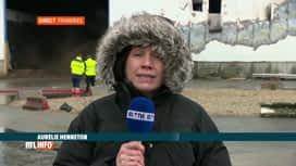 RTL INFO 13H : Incendie ce dimanche matin à Frameries sur l'ancien site Doosan