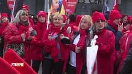 RTL INFO 13H : Nouvelle manifestation des travailleurs des titres-services à...