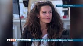 RTL INFO 13H : Maëlle, 17 ans, est décédée en trois jours d'un choc toxique