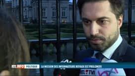 RTL INFO 19H : Formation fédérale: mission prolongée pour les informateurs royaux
