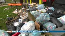 RTL INFO 19H : Une montagne de sacs poublles dans la Cité Parc à Marcinelle