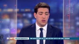 RTL INFO 13H : Décès de Maëlle: un tampon hygiénique à l'origine du choc toxique