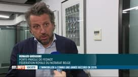 RTL INFO 13H : L'immobilier a connu une année record en 2019