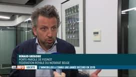RTL INFO 19H : L'immobilier a connu une année record en 2019