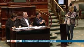 RTL INFO 19H : L'idée de fermer 17 maternités ne passe pas du côté de l'opposition