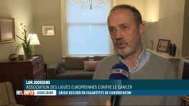 RTL INFO 13H : Le problème des cigarettes contrefaites n'est pas lié à leur toxicité