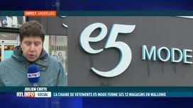 RTL INFO 13H : E5 Mode ferme ses 12 magasins en Wallonie