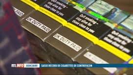 RTL INFO 19H : 126 millions de cigarettes contrefaites saisies à Anvers