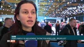 RTL INFO 13H : Action des militants d'Extinction Rebellion au Salon de l'auto