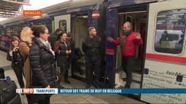 RTL INFO 19H : Les trains couchettes sont de retour en Belgique