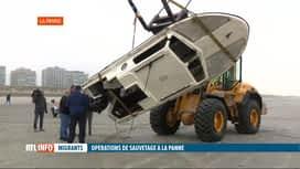 RTL INFO 19H : Naufrage d'un bateau avec 14 migrants à bord au large de La Panne