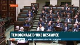 RTL INFO 19H : Cérémonie d'hommage aux victimes de la Shoah au parlement