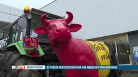 RTL INFO 19H : Manifestation d'agriculteurs à Zaventem, cet après-midi