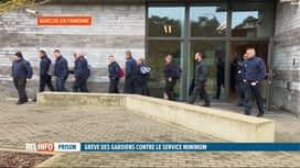 """RTL INFO 19H : Action """"coup de poing"""" à la prison de Marche-en-Famenne"""