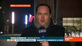 RTL INFO 19H : Thomas de Bergeyck est en direct d'Auschwitz