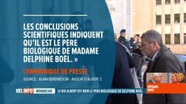 RTL INFO 19H : Le roi Albert II est bien le père biologique de Delphine Boël