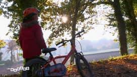 Les mamans : Première virée de Julian à vélo de grand sur la voie verte