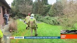 RTL INFO 13H : Tempêt Dennis: les pompiers de Sambreville sont très sollicités