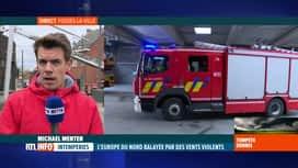 RTL INFO 13H : Tempête Dennis: quels mesures de sécurité prennent les pompiers?