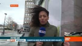 RTL INFO 13H : Tempête Dennis: le vent peut être amplifié en ville, pourquoi?