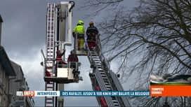 RTL INFO 13H : Tempête Dennis: 1400 interventions des pompiers wallons hier soir