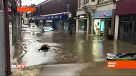 RTL INFO 13H : Tempête Dennis: le nord de la France et le Pays de Galles très touchés