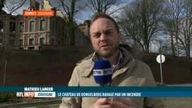 RTL INFO 13H : Incendie du château de Dongelberg: le point avec Mathieu Langer