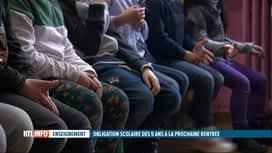 RTL INFO 13H : L'école bientôt obligatoire à partir de 5 ans