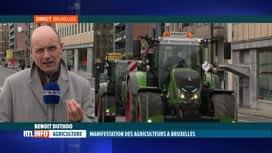RTL INFO 13H : Des dizaines de tracteurs à Bruxelles pour une manifestation