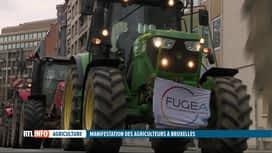 RTL INFO 19H : Des centaines de tracteurs à Bruxelles pour une manifestation