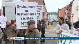 RTL INFO 19H : Manifestation des exploitants forestiers à Namur