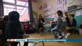 RTL INFO 19H : L'école bientôt obligatoire à partir de 5 ans