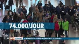 RTL INFO 19H : Grosse affluence à Brussels Airport pour les départs en vacances