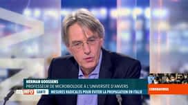 RTL INFO 19H : Coronavirus: le professeur Herman Goossens revient sur le plateau