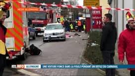 RTL INFO 19H : Une voiture percute la foule au carnaval de Volkmarsen, en Allemagne