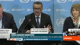 RTL INFO 19H : Coronavirus en Italie: déclaration inquiète du directeur de l'OMS