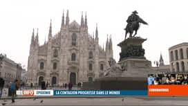 RTL INFO 19H : Coronavirus en Italie : Milan tourne au ralenti