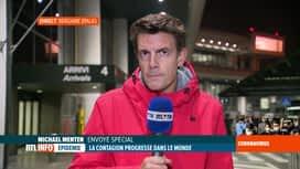 RTL INFO 19H : Coronavirus en Italie : le point en direct de l'aéroport de Bergame
