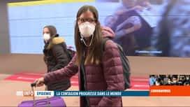 RTL INFO 19H : Coronavirus : aucun contrôle des passagers en provenance d'Italie
