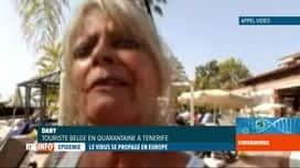 RTL INFO 19H : Coronavirus: 4 cas positifs dans l'hôtel sous confinement de Tenerife