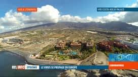RTL INFO 19H : Coronavirus: 50 Belges rentrés de l'hôtel de Tenerife, sans contrôle