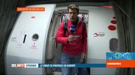 RTL INFO 19H : Coronavirus: pas de contrôles spéciaux pour les vols provenant d'It...