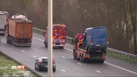 RTL INFO 19H : Accident causé par le verglas sur la E42 à Couthuin, un blessé grave