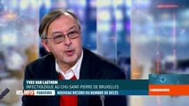 RTL INFO 13H : Coronavirus: l'analyse des données du jour avec Yves Van Laethem