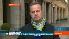 RTL INFO 13H : Coronavirus: Emmanuel Dupond est en direct du centre de crise du SP...