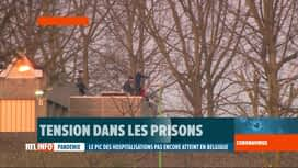 RTL INFO 19H : Mutinerie hier soir et cette nuit à la prison de Lantin (3 gardiens...