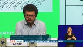 RTL INFO 19H : Le nombre de patients en soins intensifs inquiète les autorités san...
