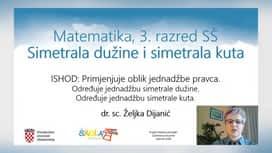Škola za život : 01.04.: MAT - Jednadžbe simetrale dužine i simetrale kuta, LIK - Usporedba slikarstva od romanike do baroka, ENG - QR Codes and Tourism, HRV - Nezavisnosložene rečenice u oblikovanju teksta