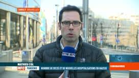 RTL INFO 13H : Coronavirus en Belgique: les chiffres du jour commentés par Mathieu...